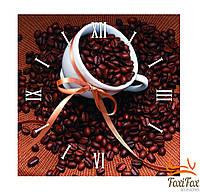 """Настенные квадратные часы """"Зерна кофе"""