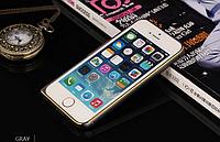 Стильный металлический/алюминиевый бампер на защелке для Iphone  6plus, 6S+plus Space Grey