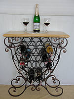 Подставка-столик для вина кованая -100