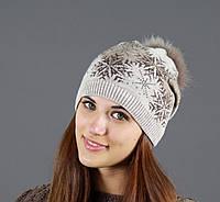 Молодежная шапка цвет капучино
