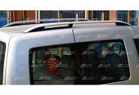 Рейлинги CROWN для Volkswagen Caddy 2004- (фольксваген кадди) цвет Хром