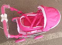 Детская коляска для кукол Мелого Melogo 9346 розовая. Качество. Плотная ткань.