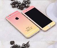 Цветное защитное противоударное ультратонкое стекло в блестках для Iphone 5/5S/5 (на заднюю панель)