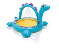 Надувной бассейн детский в виде веселого динозаврика от 2-8 лет Intex 229х165х117 см
