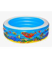 Надувной бассейн детский от 3-х лет с морскими животными Bestway 196х53 см