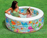 Надувной бассейн с функцией манежа или бассейна от 2-х лет Intex Интекс 152х56 см