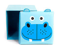 """Детский пуф 3 в 1 (корзина, ящик для игрушек) """"Бегемот"""" 40*40*40 см"""
