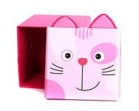 """Детский пуф 3 в 1 (корзина, ящик для игрушек) """"Котик"""" 40*40*40 см"""