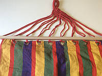 Гамак-ткань с деревянными перекладинами