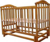 Детская кроватка с маятником, матрас ортопедический, постель 9 предметов