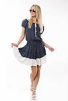 Платье крестьянка штапель Турция цвет электрик