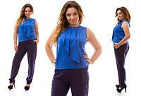 Костюм (блуза+брюки) женский полу батал