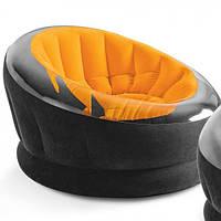 Надувное велюровое кресло 112х109х69 см EMPIRE CHAIR Intex Интекс