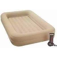 Детская надувная односпальная кровать  Kidz Travel Bed Set 107-168-25 см + ручной насос