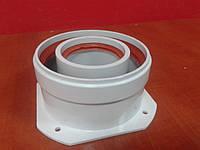 Адаптер фланец-раструб для коаксиального дымохода 60/100 плоский