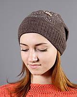 Женская шапка шоколадного цвета