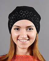 Классическая черная шапка на зиму