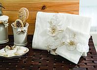 Полотенце махровое для лица и рук хлопок/бамбук Odella cream 30*50.