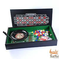 Настольный набор для игры в покер и рулетку