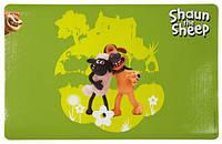 """""""Барашек Шон"""" Коврик под миски """"Shaun & Bitzer"""" зеленый 44*28см"""