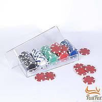 Набор профессиональных покерных фишек 100 шт