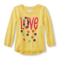 Желтая кофта туника для девочки, ChildrensPlace, 2Т, 3Т, 4Т, 5Т