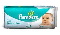 Детские влажные cалфетки Pampers Baby Fresh Clean (Памперс) №64