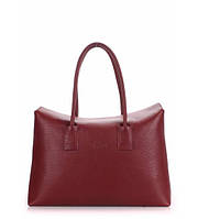 Женская кожаная сумка POOLPARTY SENSE MARSALA марсала