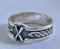 Кольцо с Руной Гебо с чернением