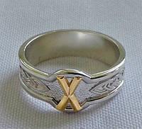 Кольцо с золотой Руной Гебо