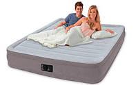 Надувная кровать двухспальная с встроенным насосом 152х203х33 см