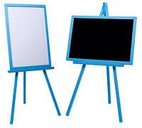 Мольберт Тренога Доска для рисования 103-110*63*43 для маркеров, мела. Немагнитный. В наборе: губка, мелки. С3