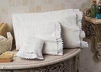 Полотенце махровое банное хлопок/бамбук Plenty cream 90*150.