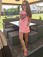 Молодежное платье-туника с карманами