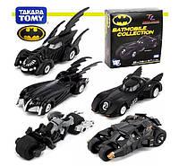 Коллекция игрушечных Бэтмобилей 5в1 от Такара Томи -  Batmobiles, Takara Tomy