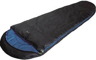 Комфортный спальный мешок High Peak TR 300 / +0°C (Right) Black/blue, 922758 черный