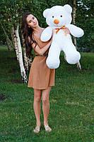 Мягкий плюшевый мишка Тедди. 100 см. Белый