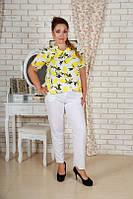 Женский костюм  с лимонным принтом Airos (батал)
