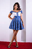 Летнее Платье в стиле Кантри Принт Вишня р. XS-XL