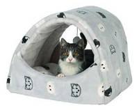 Домик-туннель для кота Trixie Mimi 42*35*35см серый (36847)