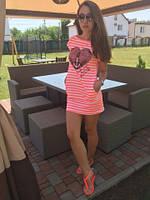 Платье-туника с якорем в полоску European