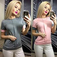 Трикотажная блузка с планочкой