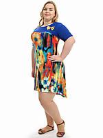 Легкое летнее платье больших размеров от производителя,модель ДК 733