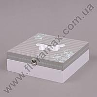 Шкатулка деревянная с бабочкой 24653