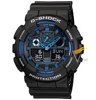 Спортивные часы Casio G-Shock ga-100 Black-Blue (Касио)