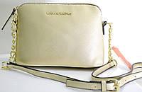 Брендовая женская сумка Michael Kors Майкл Корс золотистая