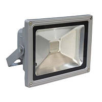 Прожектор светодиодный FERON LL-181 1LED 20W RGB (+пульт) 230V (115*87*103mm) Серебро IP44