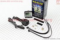 Вело-компьютер 11 функций   проводной черный AS-200