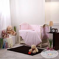 Набор в детскую кроватку Golden нежно-розовый(6 предметов)
