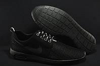 Nike полностью черные  кроссовки сетка
